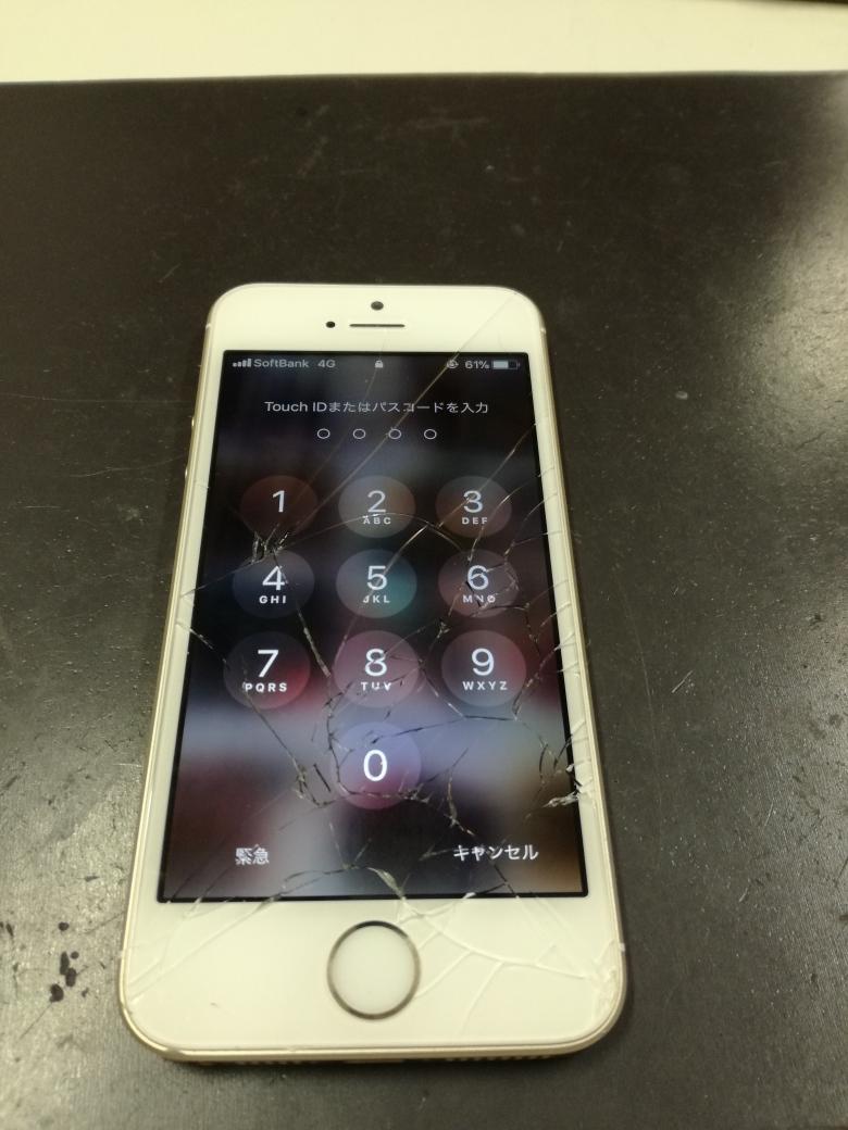画面割れiPhone5s
