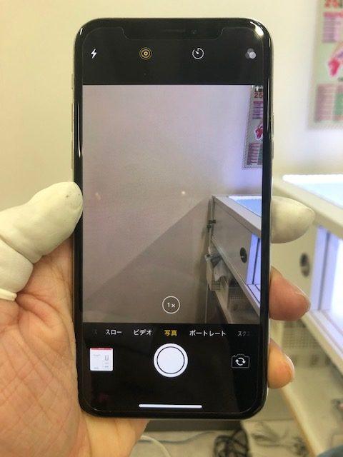 バックカメラ修理後のiPhoneX