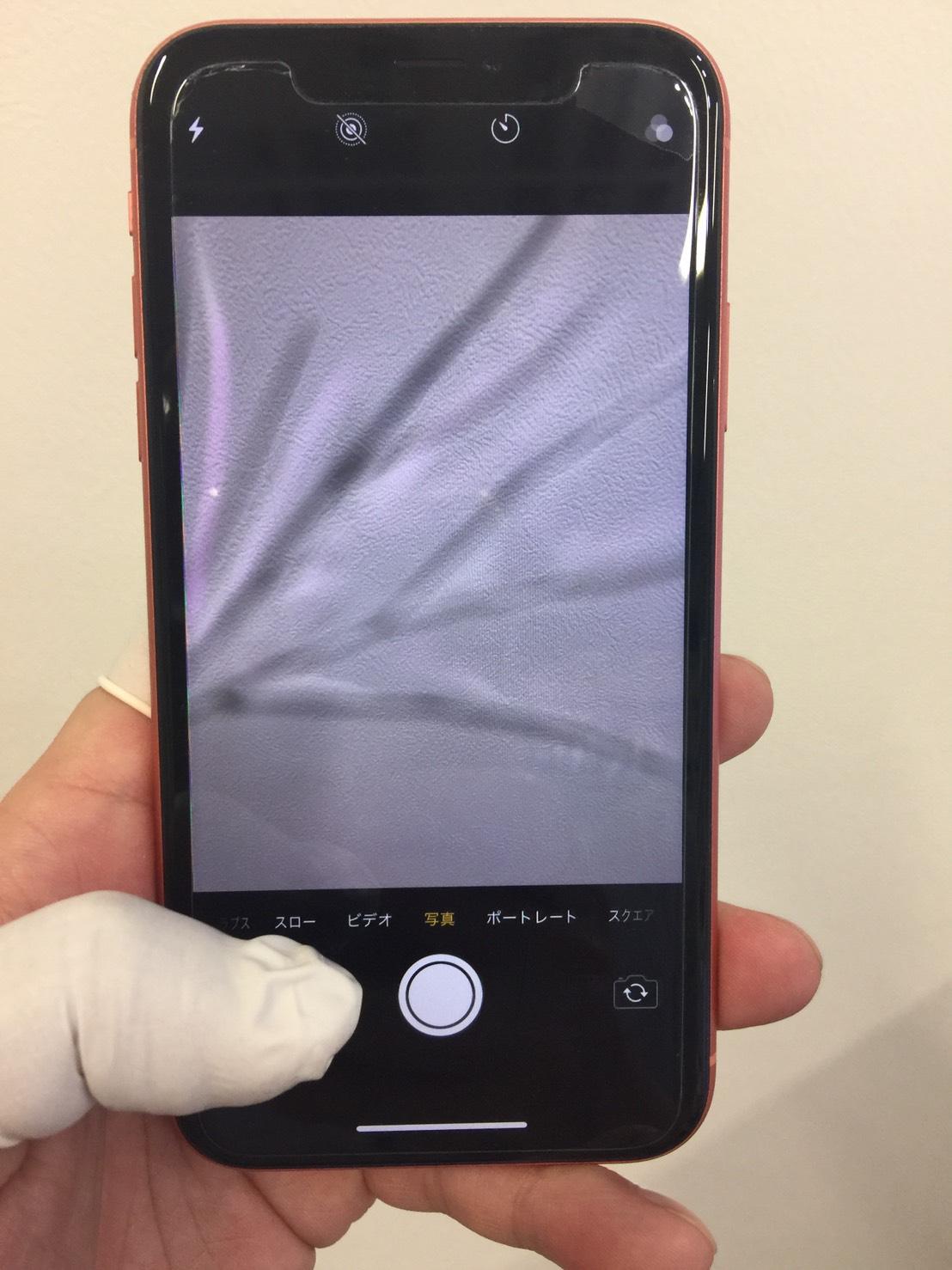 バックカメラ修理前のiPhoneXR