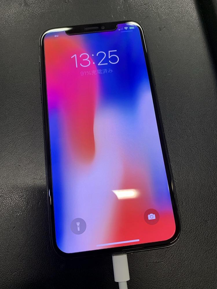 ガラス液晶交換後のiPhoneX