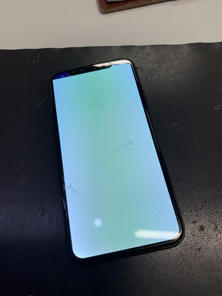 液晶が青緑に発光