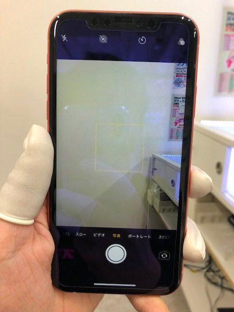 バックカメラ修理後のiPhoneXR