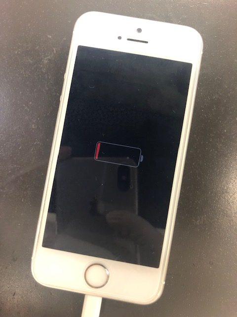 バッテリー交換前のiPhone5s