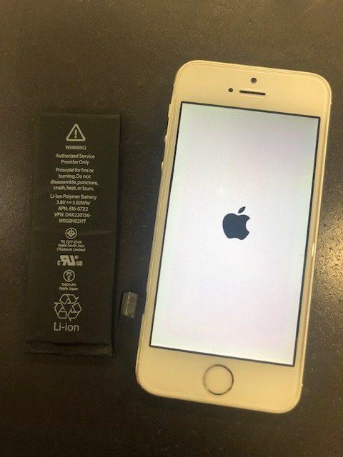 バッテリー交換後のiPhone5s