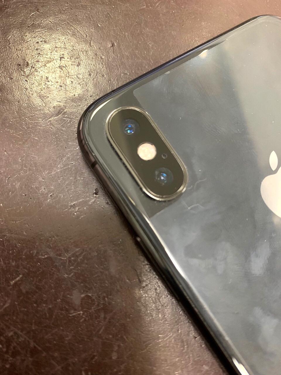 カメラレンズ修理後のiPhoneX