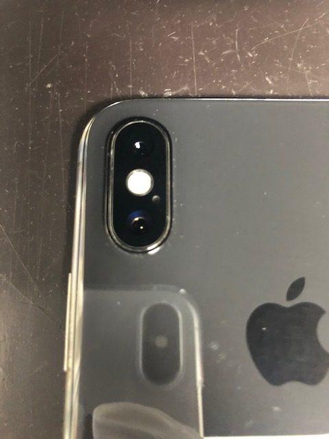 カメラレンズ修理後のiPhoneXS