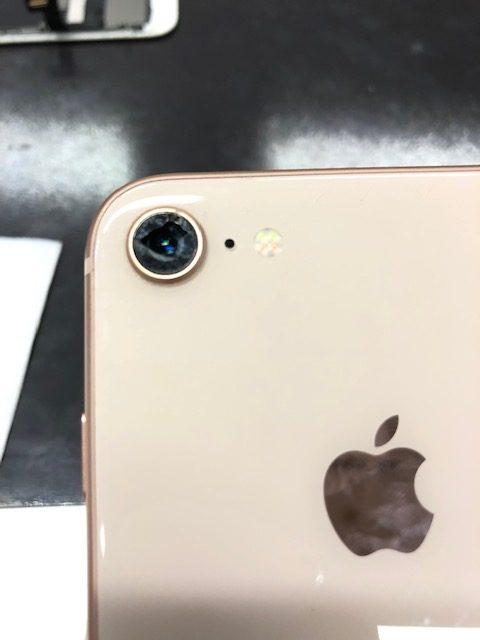 カメラレンズ交換前のiPhone8