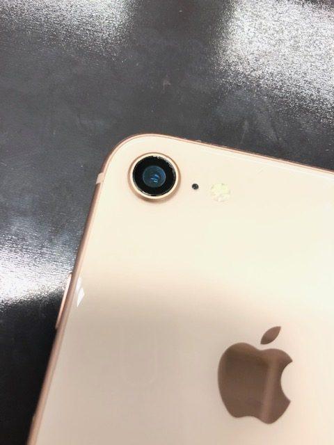 カメラレンズ交換後のiPhone8