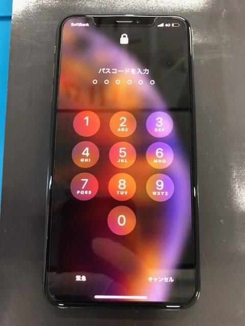画面修理後のiPhoneXS MAX