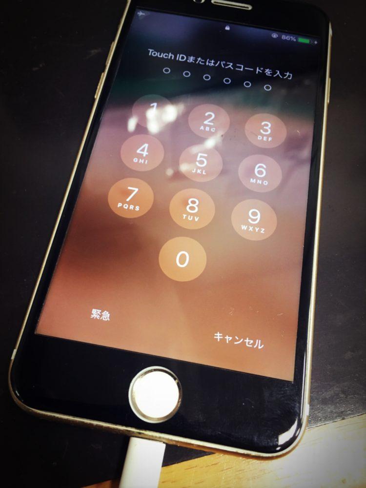 ドックコネクター交換前のiPhone7