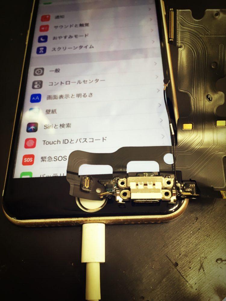 ドックコネクター交換後のiPhone7