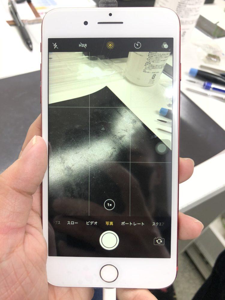 バックカメラ修理後のiPhone7Plus