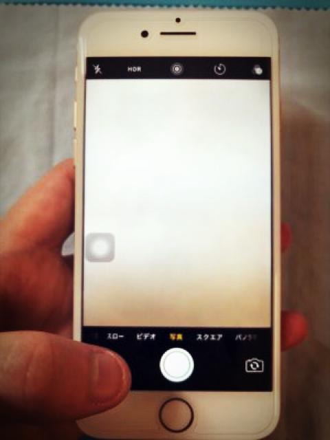 バックカメラ修理後のiPhone7