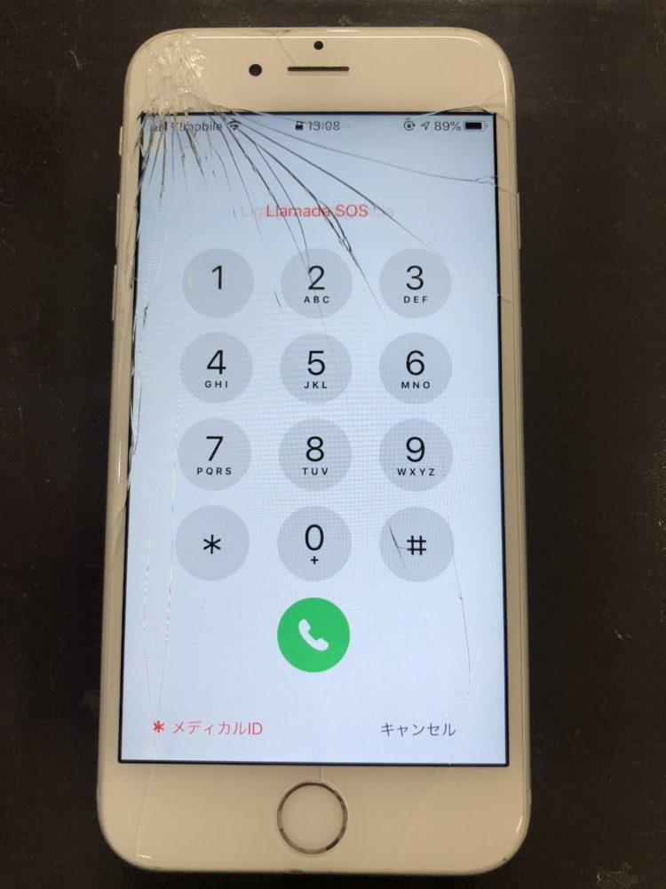 画面割れ修理前のiPhone6s