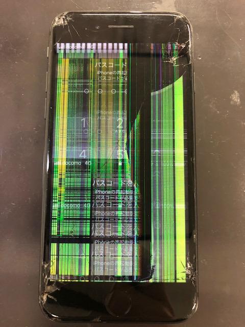 画面修理前のiPhone8
