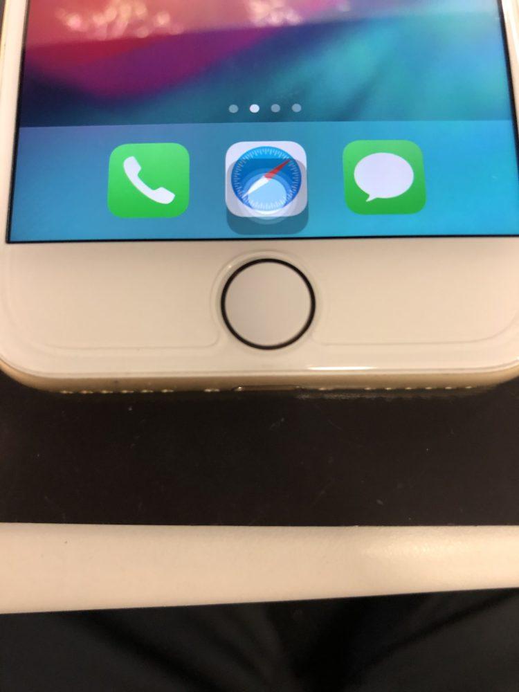ホームボタン交換後のiPhone7