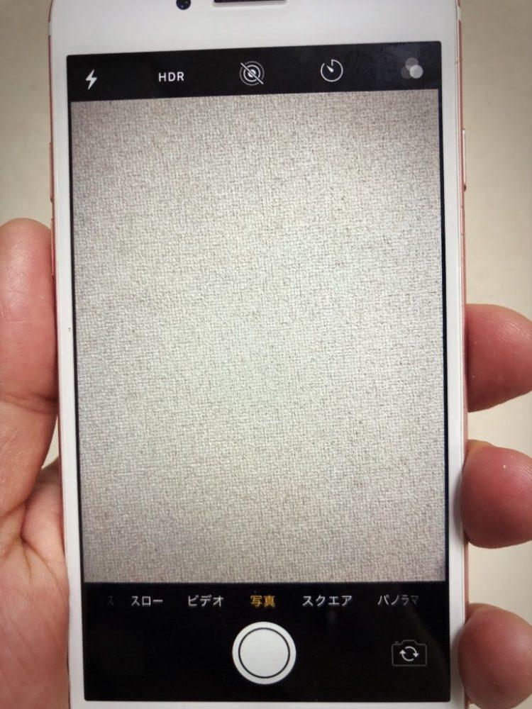 バックカメラ交換後のiPhone7