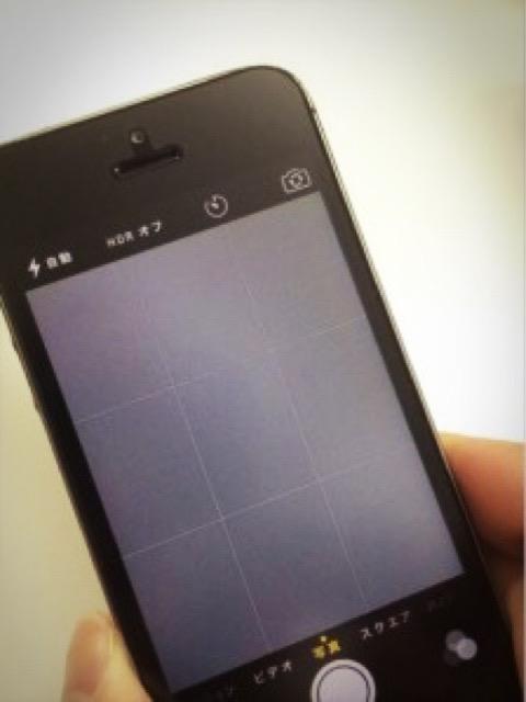 バックカメラ修理後のiPhoneSE