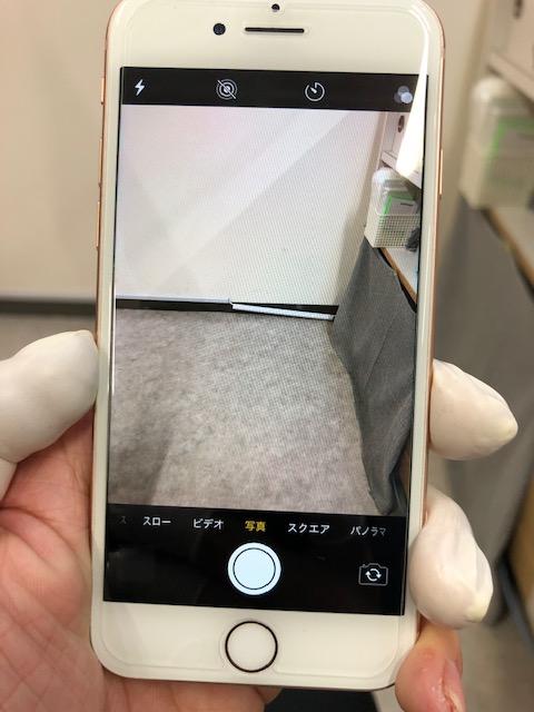 バックカメラ修理後のiPhone8