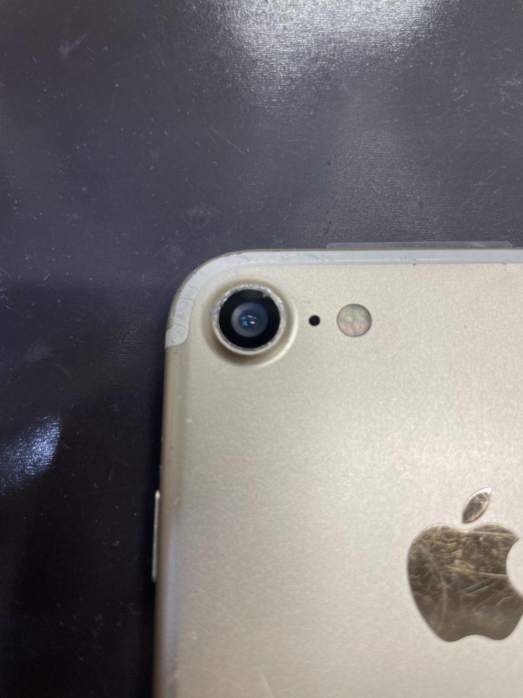 カメラレンズ交換後のiPhone7