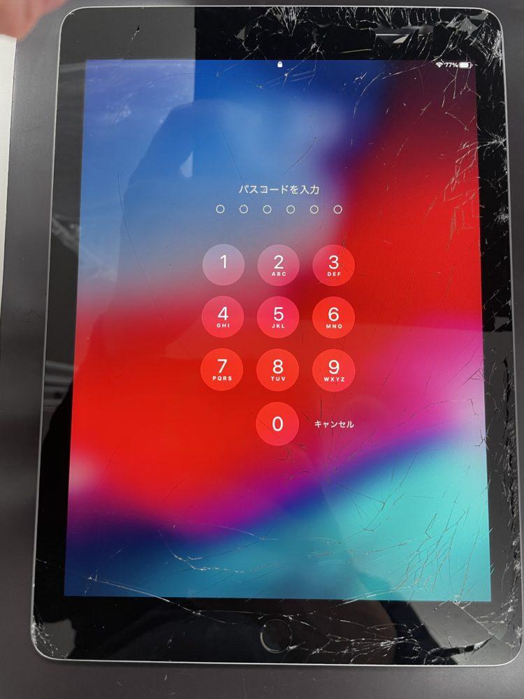ガラス割れ修理前のiPad6