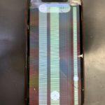 札幌市東区からご来店!iPhoneXRの画面が割れ液晶の表示がおかしくなっても綺麗に直します!