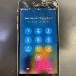 iPhoneSE2の画面割れでの修理をしました!即日で対応可能です!